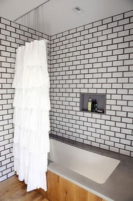 To da loos: Which colour grout goes better with white subway tiles?
