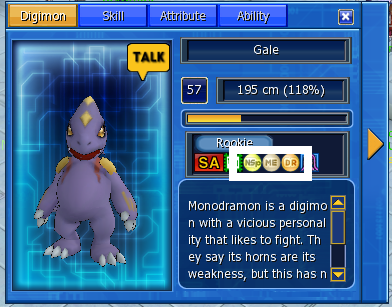 family attribute simply press d your digimon family attribute