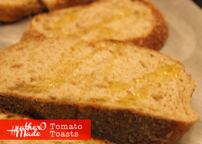 tomato toasts. heatheromade recipe