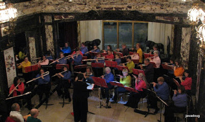 Flute Academy Flute Chorus - pre-concert music in the lobby.