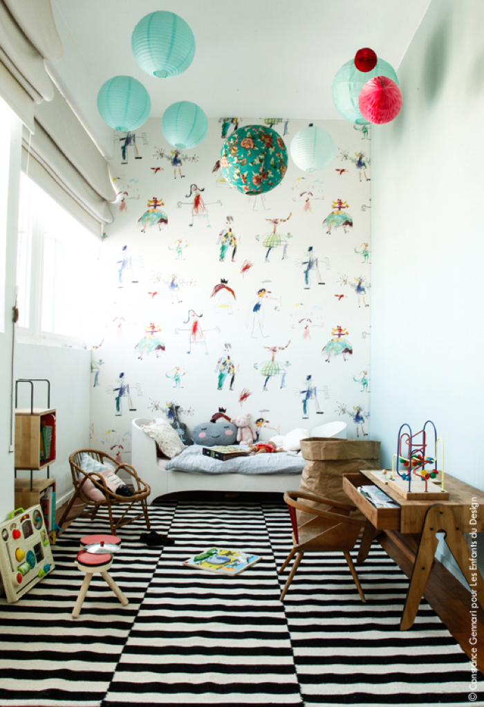 Rafa kids pierre frey confettis collection for kids - Peinture murale tendance ...