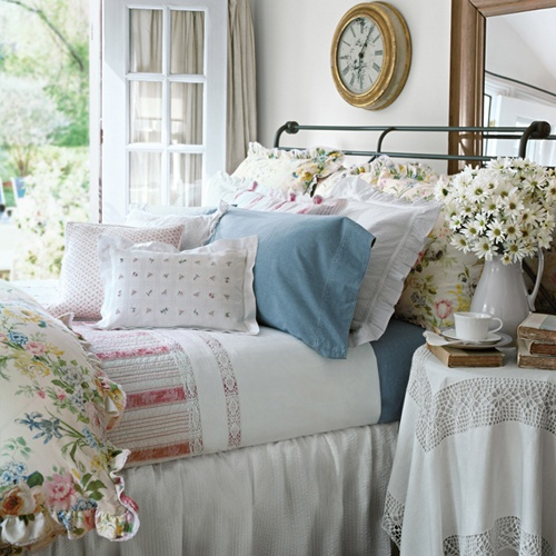 Bedroom Design Blue And White Shabby Chic Bedroom Furniture Uk Bedroom Curtains For Small Windows Bedroom Curtains Ikea: Hydrangea Hill Cottage: Ralph Lauren Roomsets