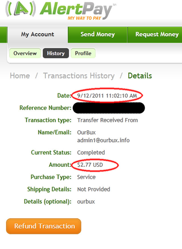 My Second Payment from ourbux 5.32$ dated 5/10/2011 Ourbux-pay1