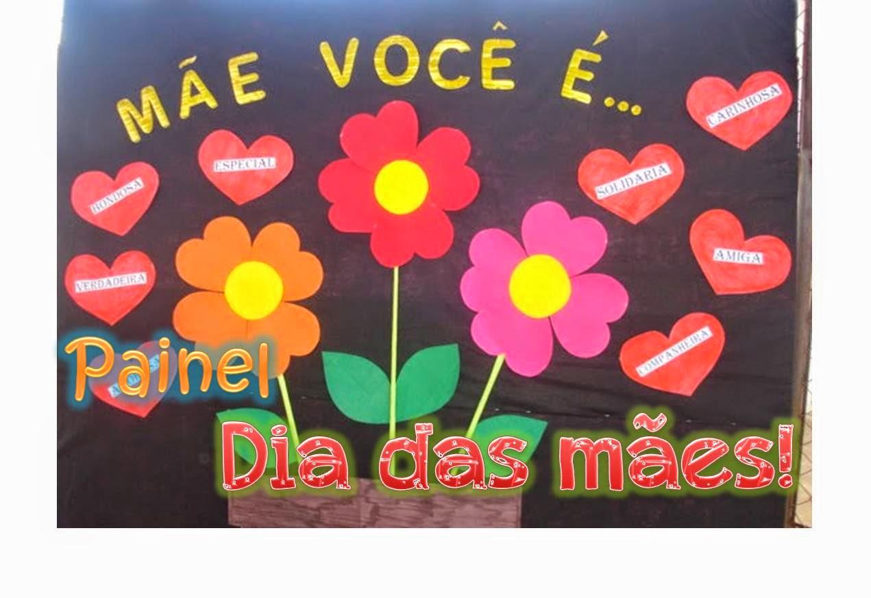 Professora Juce Painel Para O Dia Das Mães Com Flores De Papel