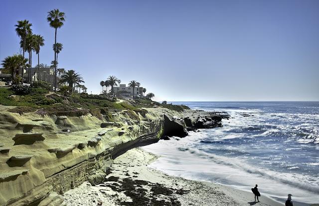 Surf em Point Loma em San Diego