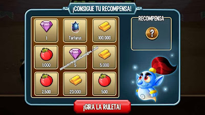 imagen del tercer premio de la ruleta del challenge battle de monster legends ios