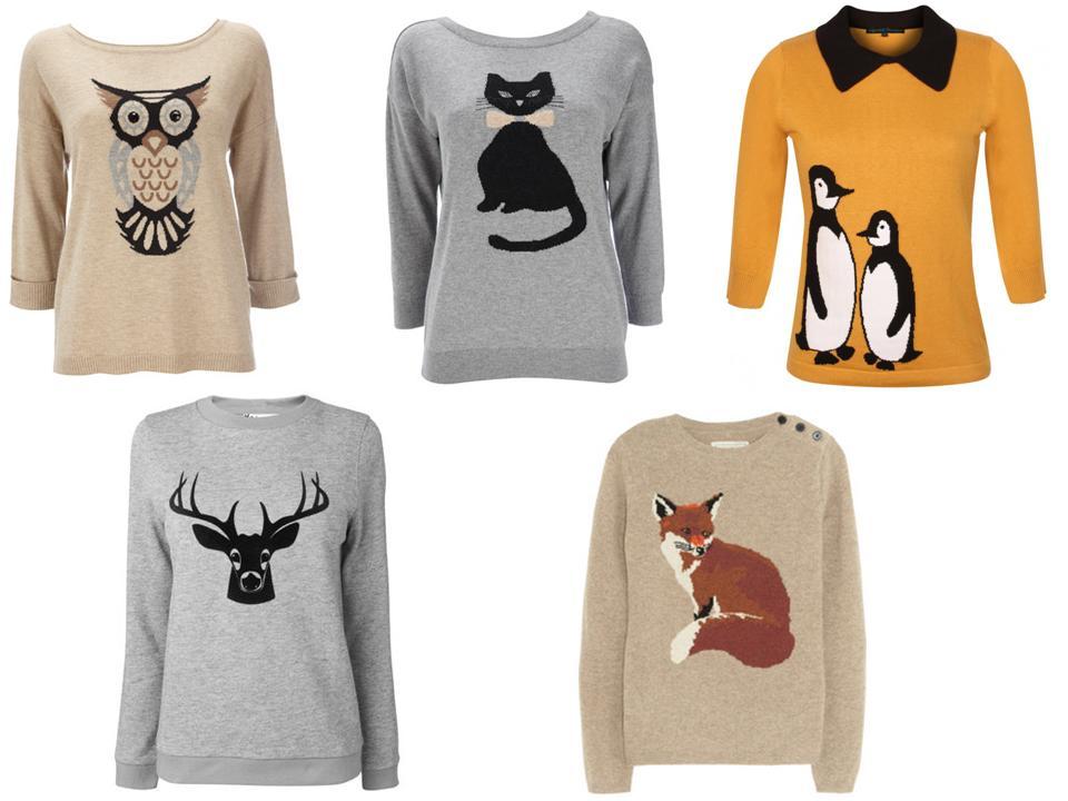 Модные свитера с рисунком