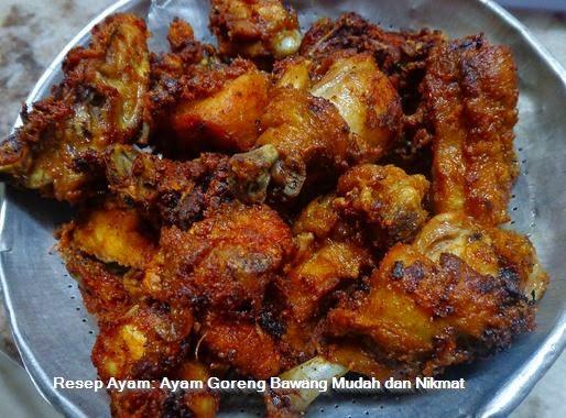 Resep Ayam: Ayam Goreng Bawang Mudah dan Nikmat