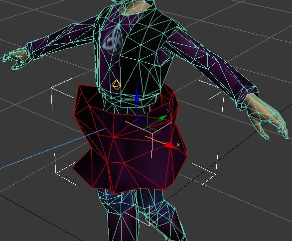 Primer intento de simulación de telas
