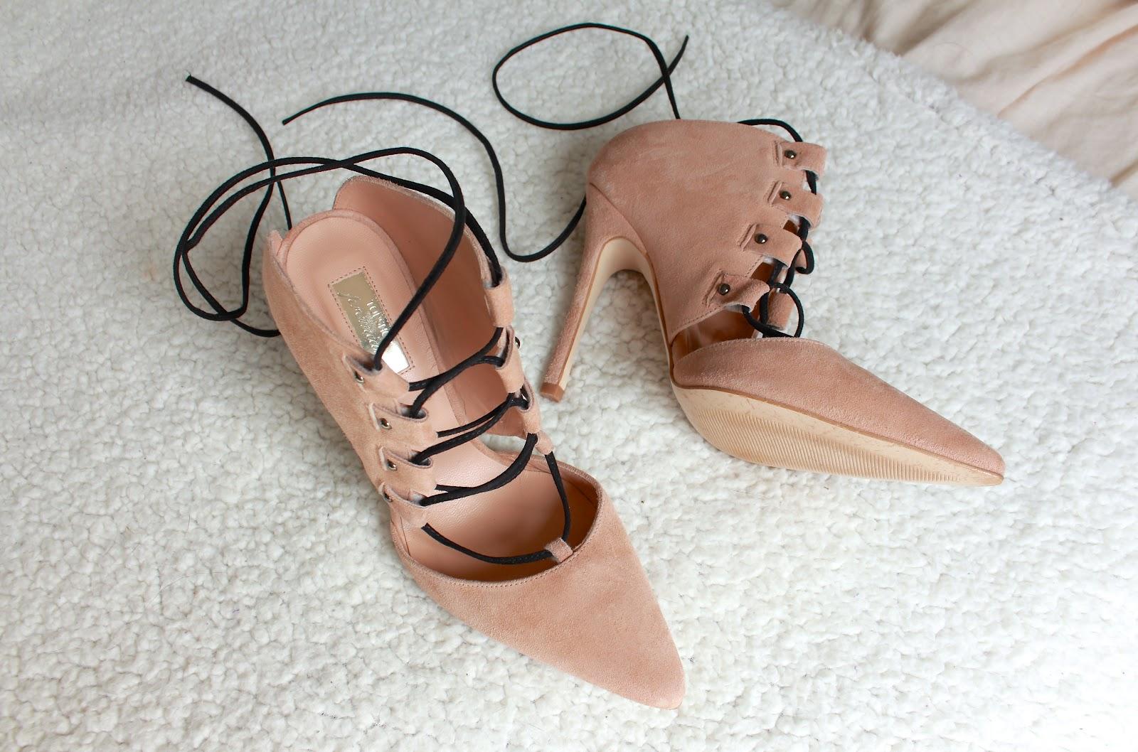 krystel couture, style blog, topshop, ghillie heels, suede heels,