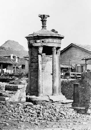 Lysicrates Monument in Excavation