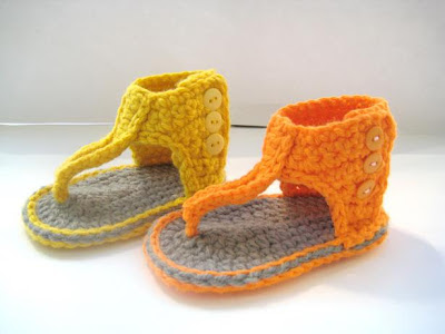 Crochet Pattern Baby Booties Orchid Sandals : For the Love of Crochet Along: Gladiator Sandals - Crochet ...