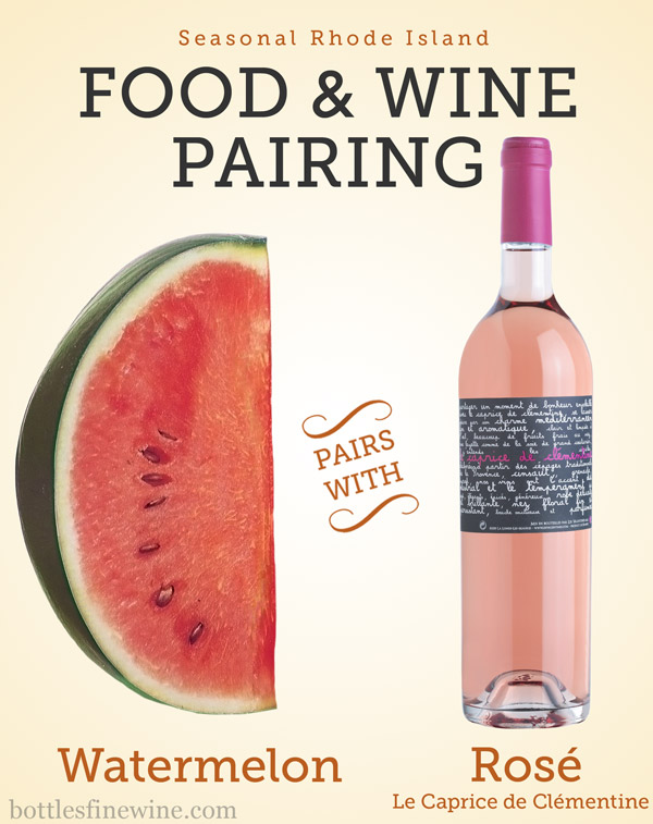 watermelon and rosé wine pairing idea