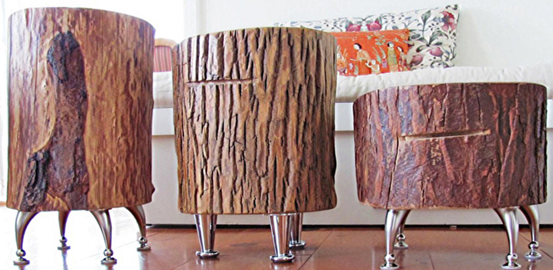 Gone thrifting tree stumps - Tree trunk table and chairs ...