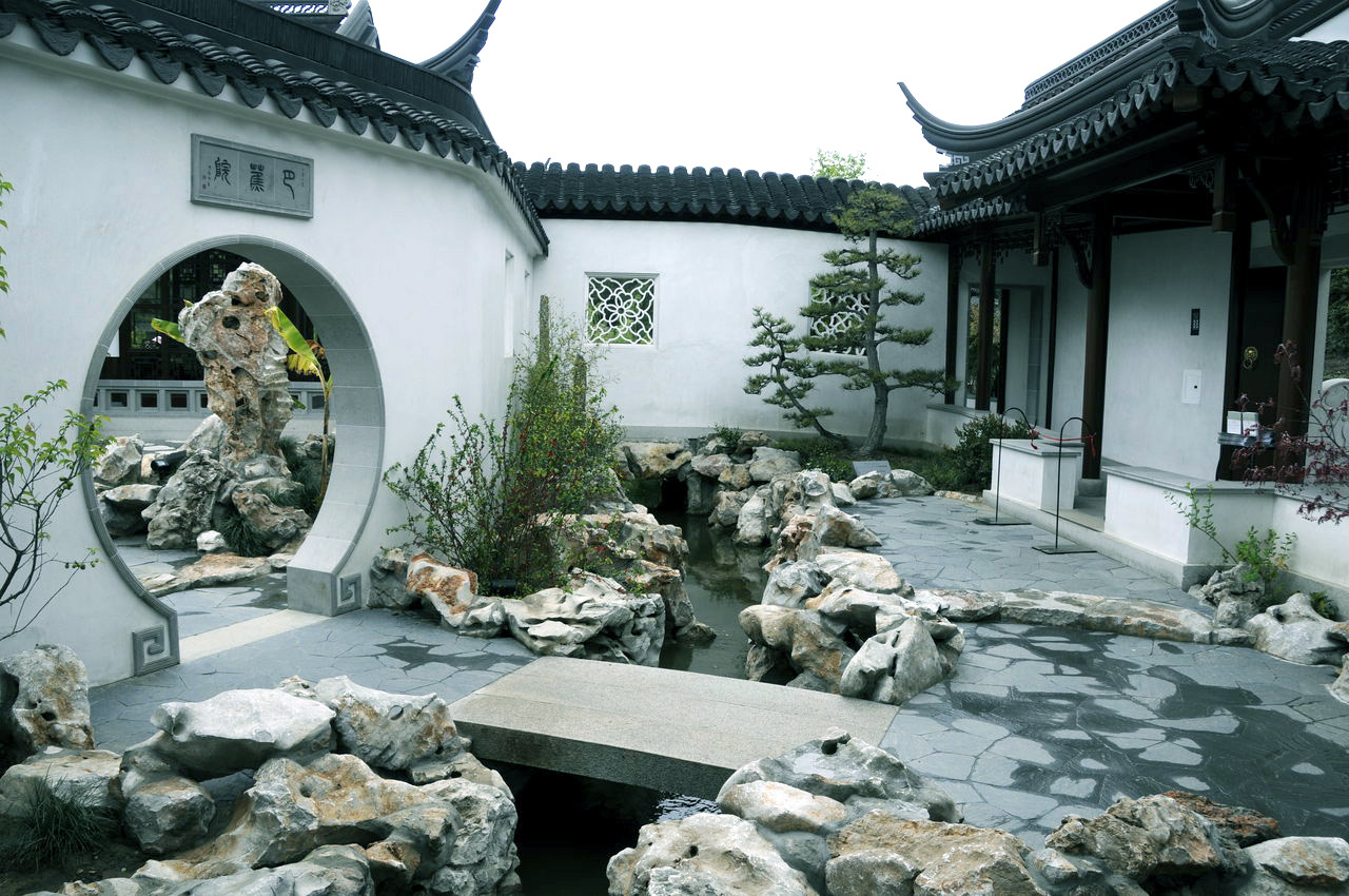 Chinese courtyard house layout