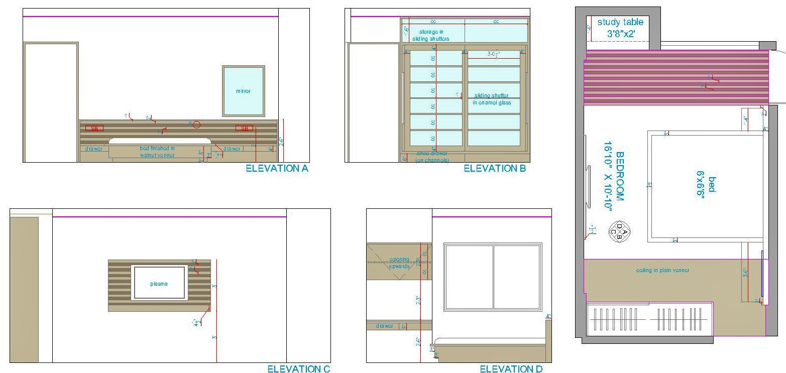 Interior design drawing interiors design - Interior Designing Portfolio Interiors For 3 Bhk