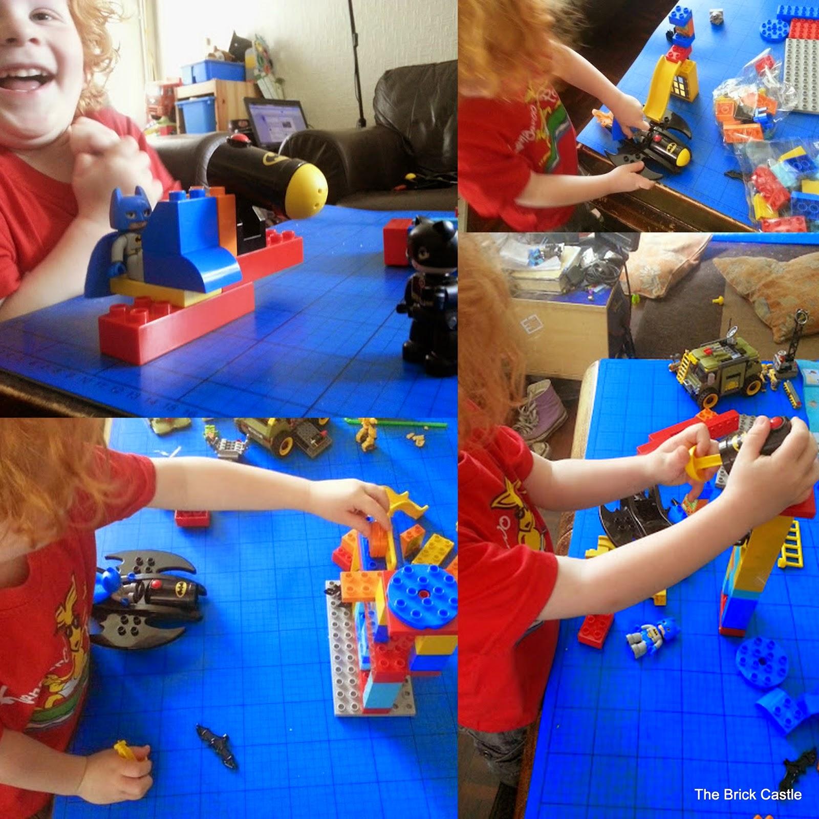 LEGO DUPLO Batcave Adventure set review Batman play collage