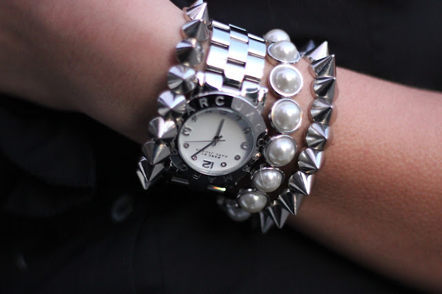 Marc Jacobs Watch and Spikes Bracelets