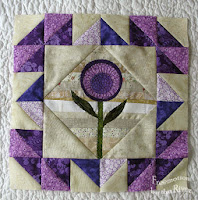 April purple string flower block