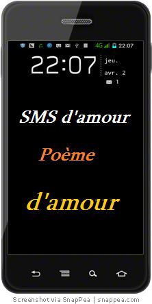 SMS d'Amour Poème à tous mes amis, belle et douce mots d'amour a tout les amoureux, phrase d'amour a beau s'offrir de sa vie.