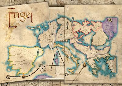 Mapa de las tierras exhaustas