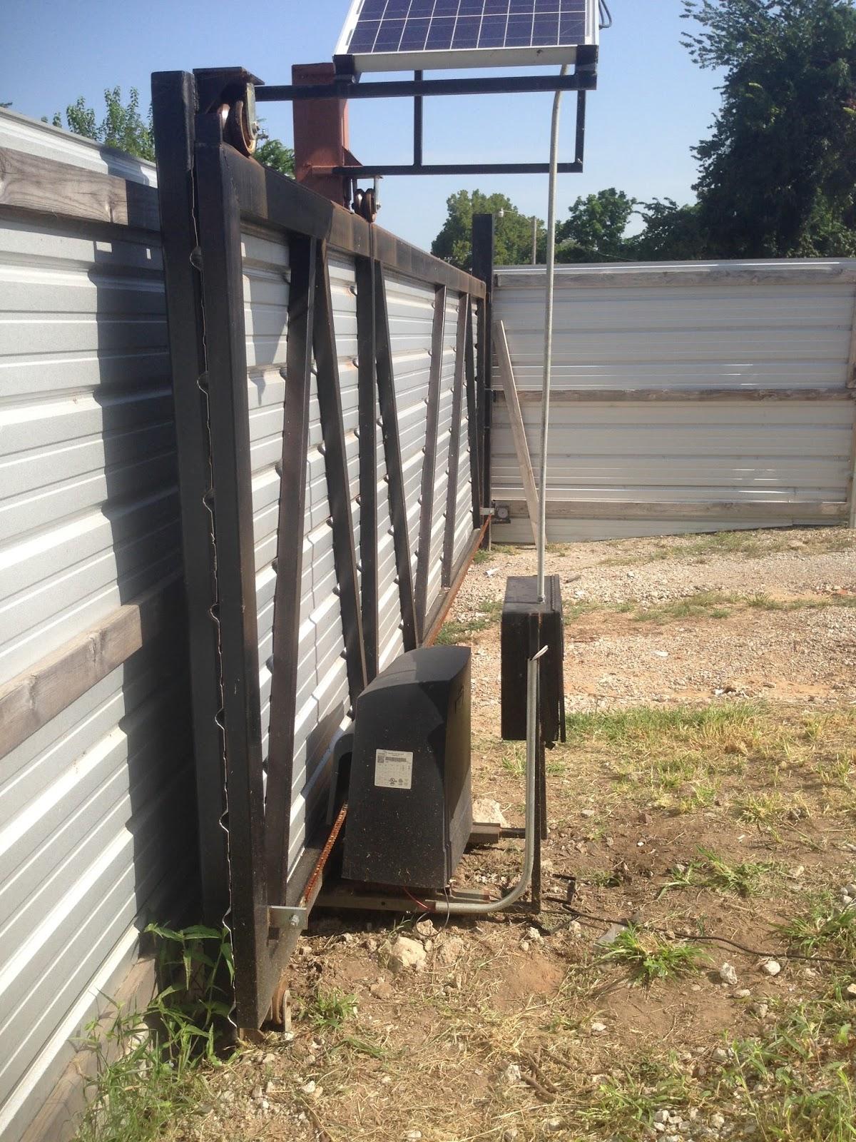 K slide gate operator solar conversion