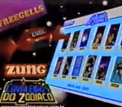 Propaganda da Bala Zung com a série especial dos 'Os Cavaleiros do Zodíaco'.
