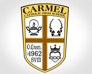 Carmel Catholic High School BW Logo