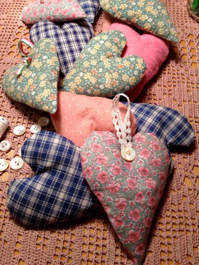 Stuffed Heart cushions