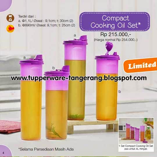 Cooking Oil Set Tupperware