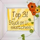I was top 3 at StuckonSketches April 26th sketch challenge,2013