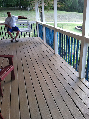 Front Porch Makeover {rainonatinroof.com} #porch #makeover #DIY