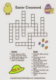 These Easter Crossword Are Easy And Suitable For Kids Preschooler You Can Apply Games On The Day To Bring More Fun Your
