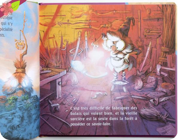 Patatra la p'tite sorcière et les Balais volants de Monique Aloujes et Florian Le Priol - éditions Karibencyla