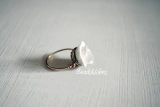 anello rosa fimo