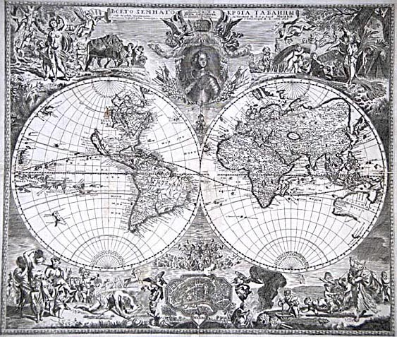 Ancient World Maps World Map Th Century - Old world map black and white