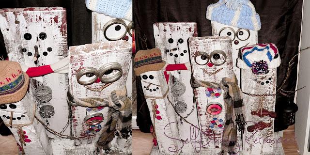 snowmen, snowman, wooden, diy, craft, christmas, winter, wooden snowman family