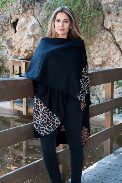 Poncho léopard Echarpissime