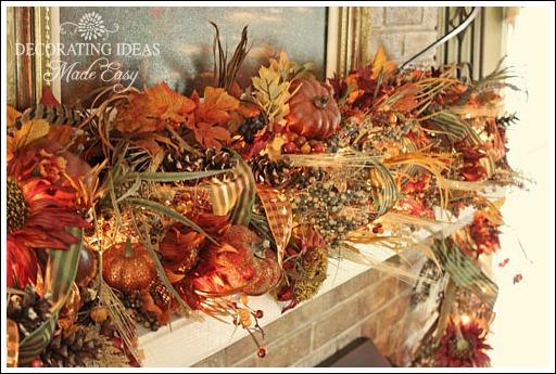 Fall Fireplace Mantel Decorating Ideas 512 x 345