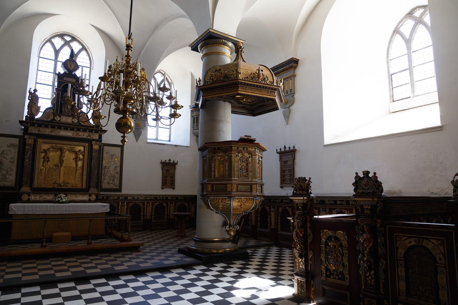クロンボー城の礼拝堂高画質画像です。