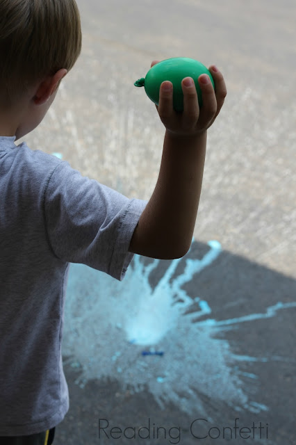 Chalk Bombs: A fun twist on ordinary water balloons and a trick for filling them.