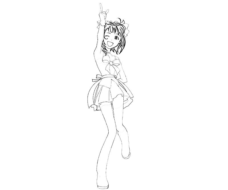 printable-idolmaster-haruka-amami-cute_coloring-pages