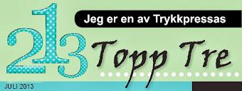 Topp 3 hos Trykkpressa Juli 2013