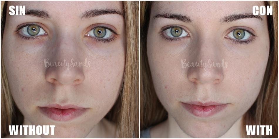 before and after concealer klair's
