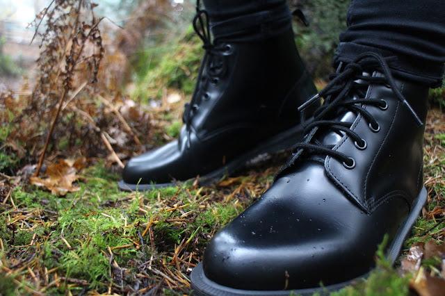 Black Dr Martens Emmeline Boots
