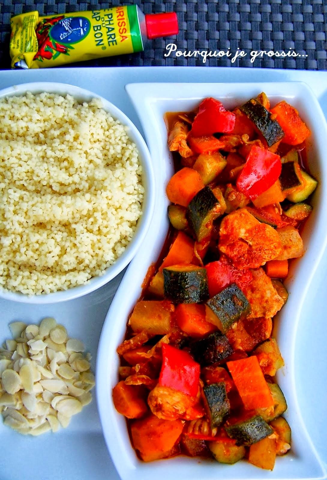 Recette couscous marocain poulet un plat complet et l ger blogs de cuisine - Plat facile et leger ...