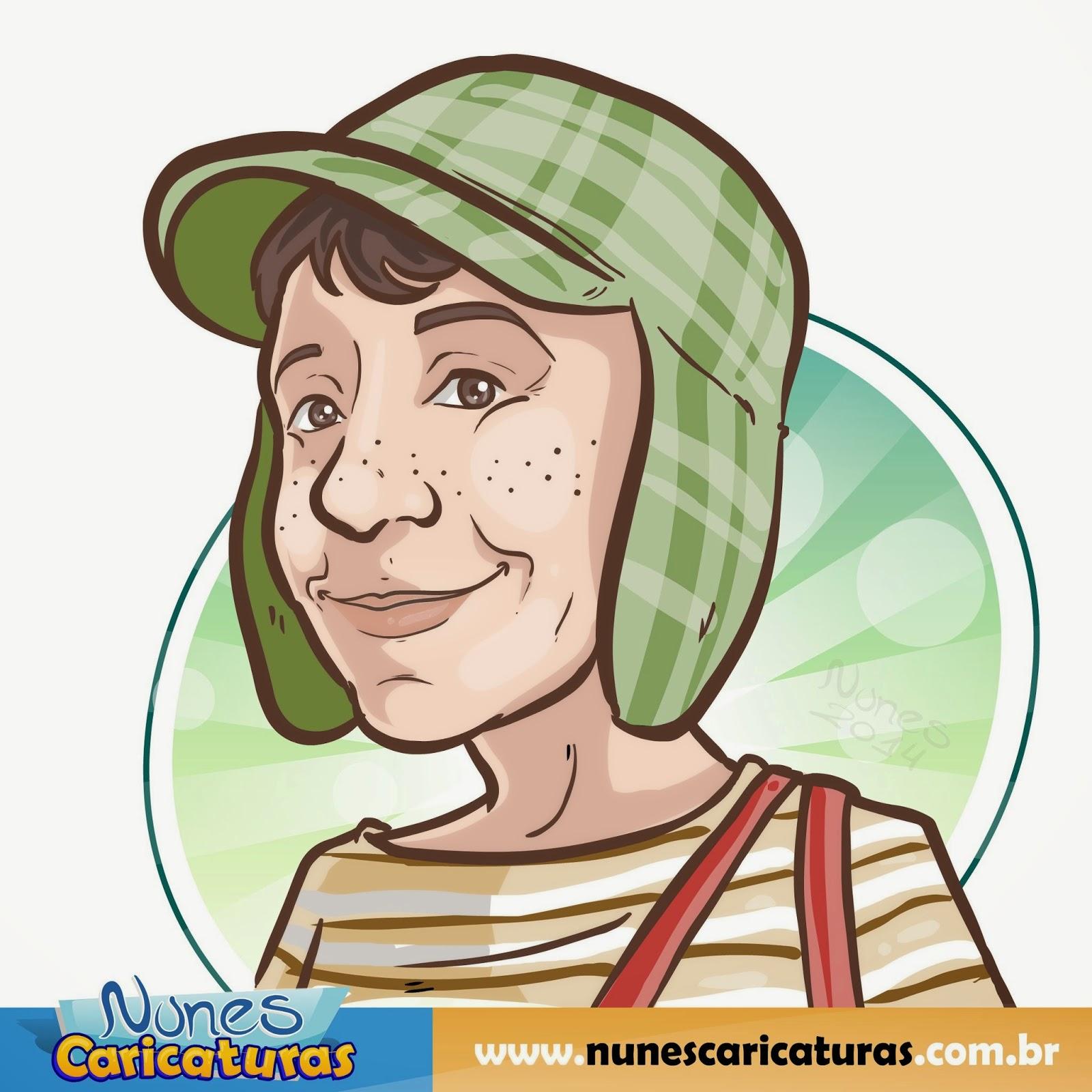 nunes caricaturas caricatura homenagem á roberto bolaños