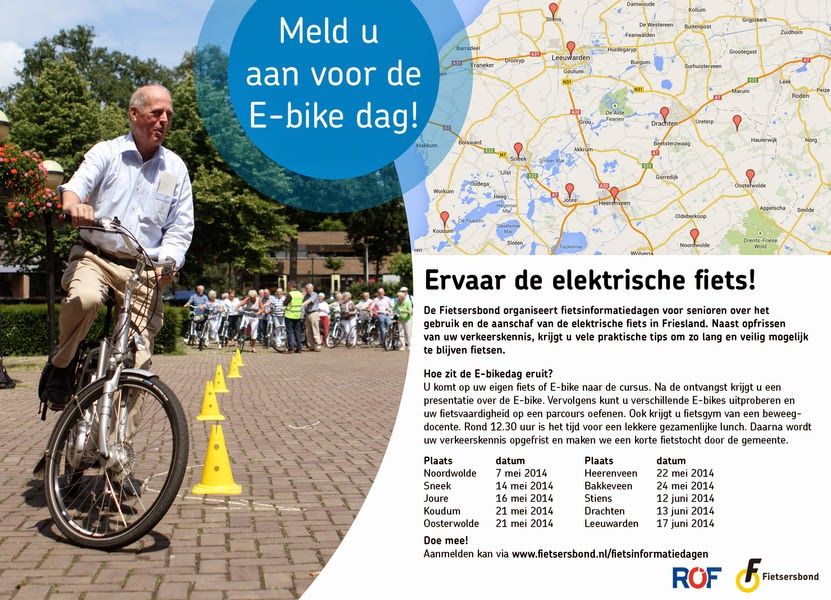 Link naar het aanmeldingsformulier voor de fietsinformatiedag Ebike