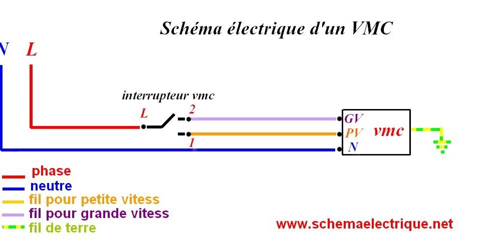 schema electrique branchement cablage - Couleur Fil Neutre Electricite