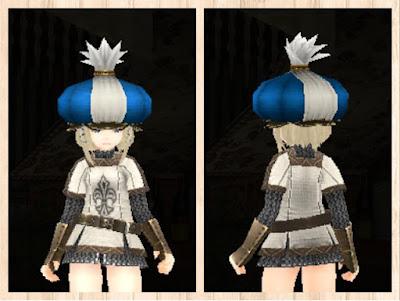 マーケット帽子・青1